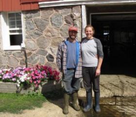 Right now Todd & Lily Lanis are interning at Krusenbaum's farm.