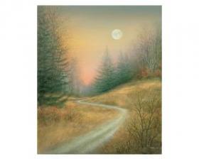"""Autumn Twilight,"" Alaniz's piece that is part of the Channel 10 auction."