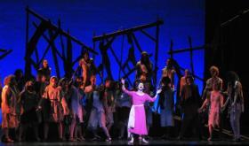 "Lydia Hartlaub (center) stars in Shorewood High School's production of Elton John and Tim Rice's ""Aida."""