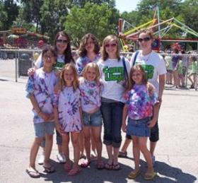 Camp Lloyd's big buddies and little buddies on a trip to Bay Beach amusement park.