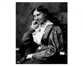 Clara Barton, in a 1906 photograph.