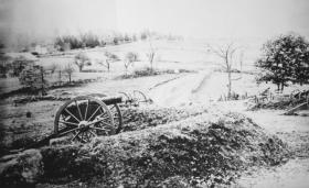 Barlow's Knoll after the first day of battle at Gettysburg.