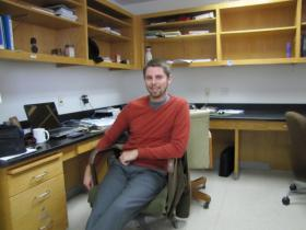 UWM postdoctoral researcher Matt Dellinger is studying how certain compounds end up in the Great Lakes - and what impact they could have on ecological and human health.