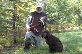 Bobbi Rongstad's husband Tom and dog Marley are avid grouse hunters.