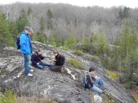 The Penokees serve as outdoor classroom for Northland College geoscience professor Tom Fitz's students.