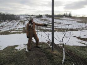 Chores don't end after a bad yield, even in the middle of winter; Deidre Birmingham has lots of pruning to do.