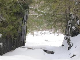 Tyler Forks Gorge is located just east of where proposed mine would break ground.