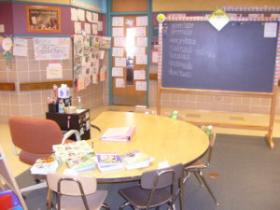 An area at Gaenslen School where special education teachers work with students.