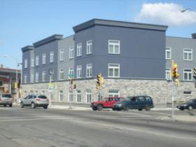 Recently built mixed use housing and commercial development.