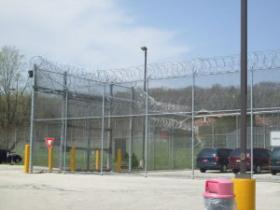 Chain-link fences and razor wire surround Ethan Allen School, the state's most secure prison for boys