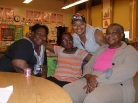 Renee Washington, her niece, daughter and mother Annie Crockett