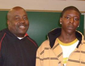 Charles Reese and Christopher Wilkins teach kids how to make good decisions, as part of a Safe & Sound program.