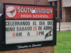 South Division High School has a mainly Latino, black and Asian student body.
