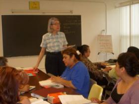 Students learn English at the Council for the Spanish Speaking.