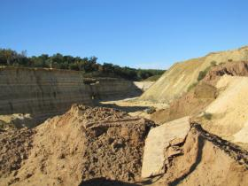 Bluff gives way to frac sand mining.