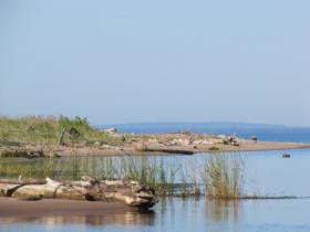 Where the Bad River meets Lake Superior - north of proposed iron ore mine.