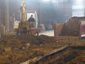 Work in progress at Sweet Water site.