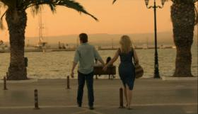 """Actors Ethan Hawke and Julie Delpy portray a couple in """"Before Midnight."""""""