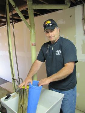 Jeff Smith hopes plumber can help him diagnose the contents of his clogged filter.
