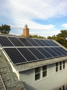 Tony Berger's home in Riverwest maxed-out at 16 solar panels