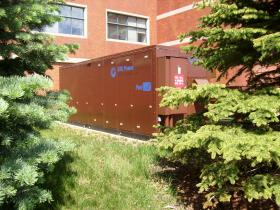 The fuel cell at Diversey, Inc. in Sturtevant is about as loud as a roof mounted air conditioning system.