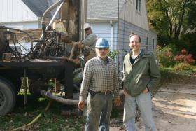 Installing geothermal causes minor chaos at Mike Arney's (right) Wauwatosa home