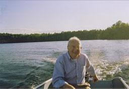Commentator George Berdes in the Northwoods