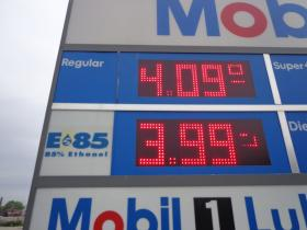 E85 usually costs less, but using the blend results in lower gas mileage