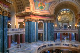 Inside Wisconsin's State Capitol building.