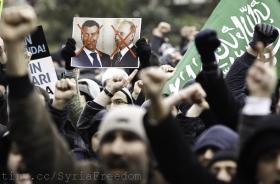 Protests continue against the Syrian president Bashar al-Assad.