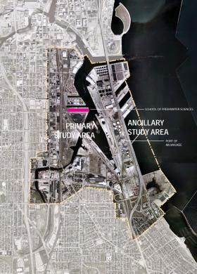 UWM Institute for Ecological Design students have been tasked with coming up with designs to transform the Inner Harbor, while eliminating storm water runoff and carbon emissions.