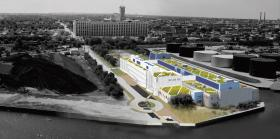 UWM School of Freshwater Sciences is considered first sign of Inner Harbor revitalization.  Designers aim to incorporate as many storm water and water conservation elements as possible.