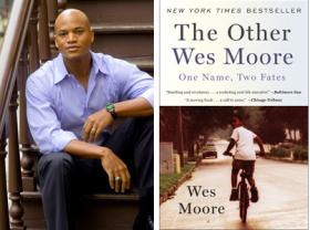 Author Wes Moore and his best-selling book