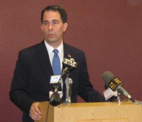 Gov. Walker summarized his major initiatives Monday in Milwaukee
