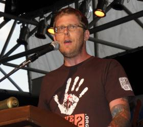 Arno Michaelis is on the executive committee of the group Serve 2 Unite. It was formed after the Sikh temple shooting, August 5, 2012. Michaelis spoke Saturday at the Lanterns for Peace event in downtown Milwaukee