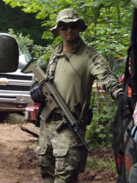 One of the guards first spotted in July, at the site of a potential iron mine in far northern Wisconsin