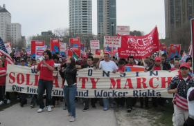 Thousands participated in the Voces de La Frontera May Day march in Milwaukee in 2011