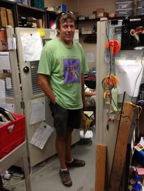 John Janssen in his School of Freshwater Sciences lab.