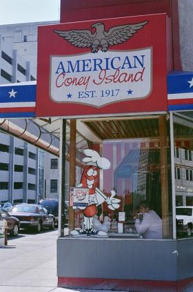 The world famous American Coney Island is in the heart of Detroit.