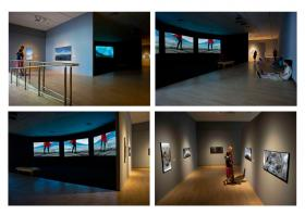 """Cecelia Condit's three-channel video and photography installation, """"Within a Stone's Throw."""""""