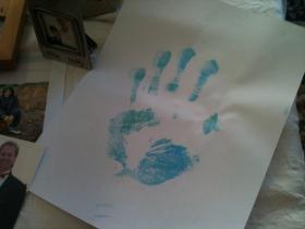 Brandon Gabor's family requested his hand print, after he died, as another way to remember him