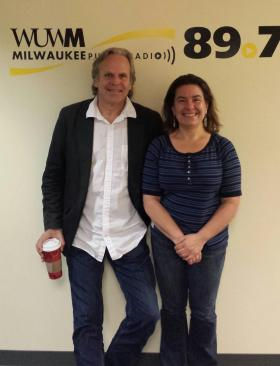Lake Effect's Bonnie North with UWM graduate and special effects supervisor Jim Rygiel