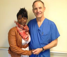 Loraine Davison and her surgeon at the Milwaukee VA, Dr. Jim Sanger.