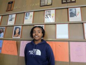 Shampriel Morrise, a student at Milwaukee High School of the Arts, received the YoungArts Merit Award from the National YoungArts Foundation for her singing talent.