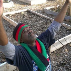 Andre Ellis uses community garden to improve neighborhood