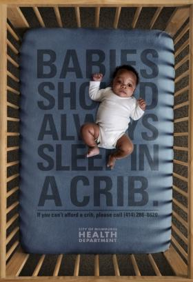 The city of Milwaukee released this ad in July 2012 to combat co-sleeping deaths