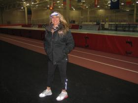 Former Olympian Nancy Swider-Peltz, Sr. has worked with Hansen for years