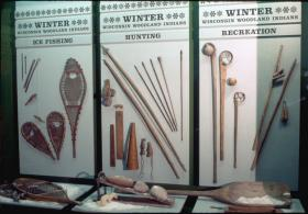 The Milwaukee Public Museum features items, such as a shovel and games, that show how Woodland Indians made it through the winter