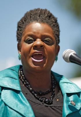 Congresswoman Gwen Moore of Milwaukee, speaking at a rally in Washington, D.C., in June 2012
