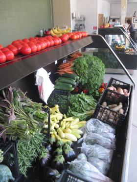 Growing Power opened its café and market in August 2012 with a bounty of produce for sale